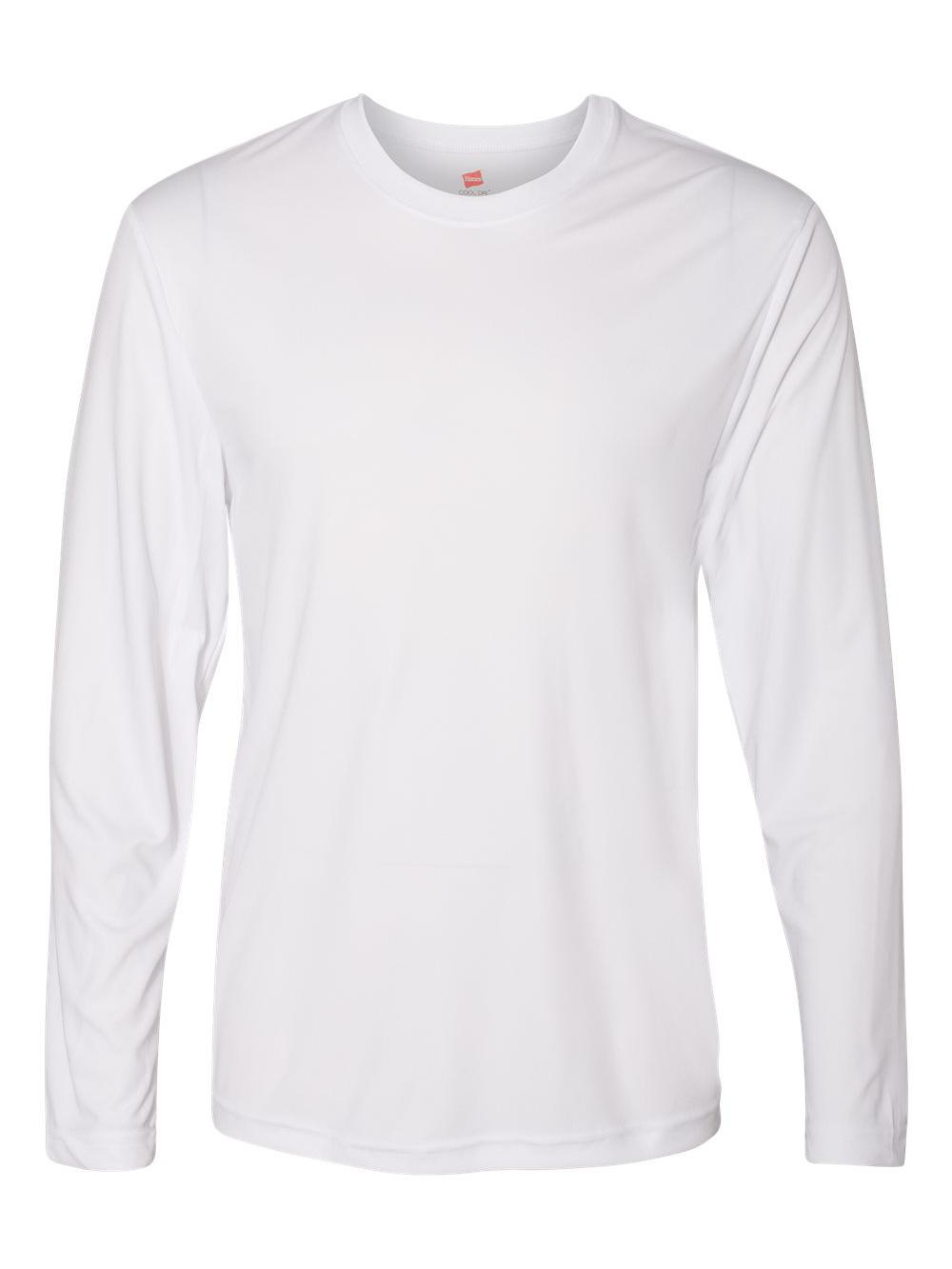 Hanes-Cool-Dri-Long-Sleeve-Performance-T-Shirt-482L thumbnail 18