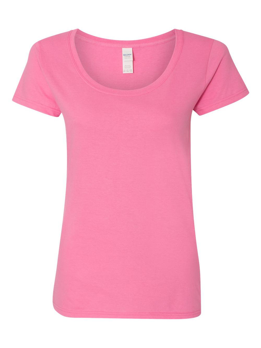 Gildan-Softstyle-Women-039-s-Deep-Scoopneck-T-Shirt-64550L thumbnail 3