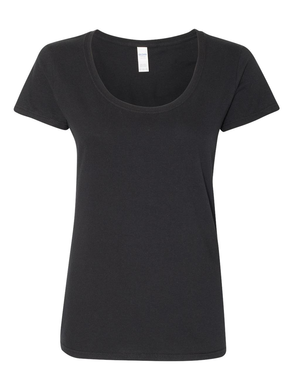 Gildan-Softstyle-Women-039-s-Deep-Scoopneck-T-Shirt-64550L thumbnail 6