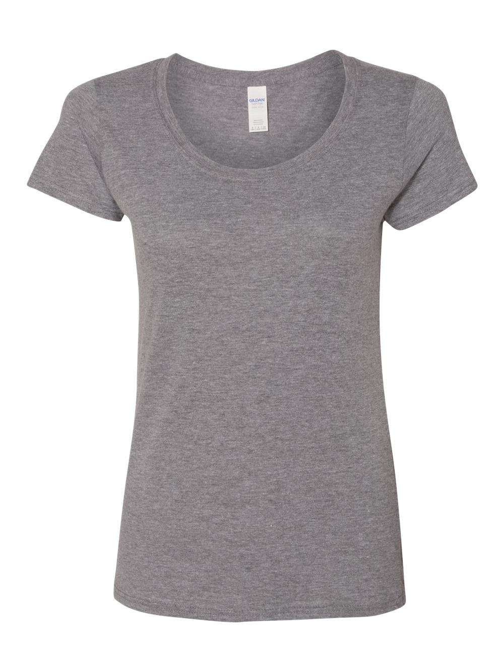 Gildan-Softstyle-Women-039-s-Deep-Scoopneck-T-Shirt-64550L thumbnail 12