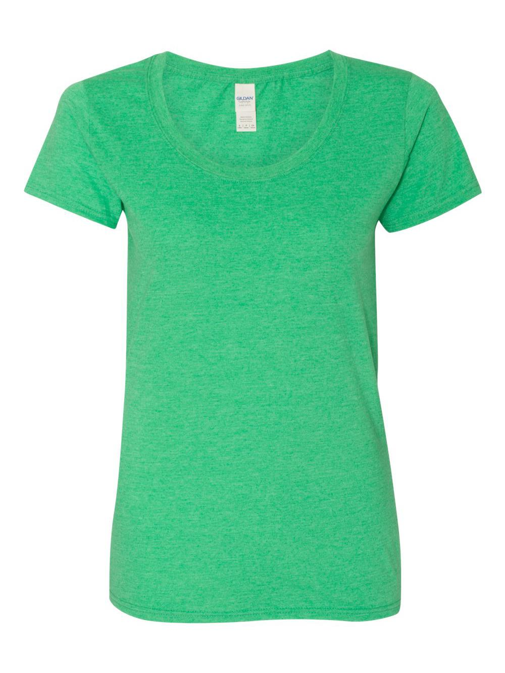 Gildan-Softstyle-Women-039-s-Deep-Scoopneck-T-Shirt-64550L thumbnail 18