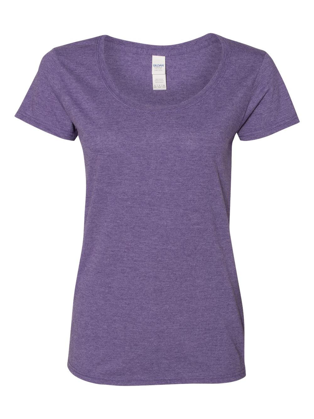 Gildan-Softstyle-Women-039-s-Deep-Scoopneck-T-Shirt-64550L thumbnail 24