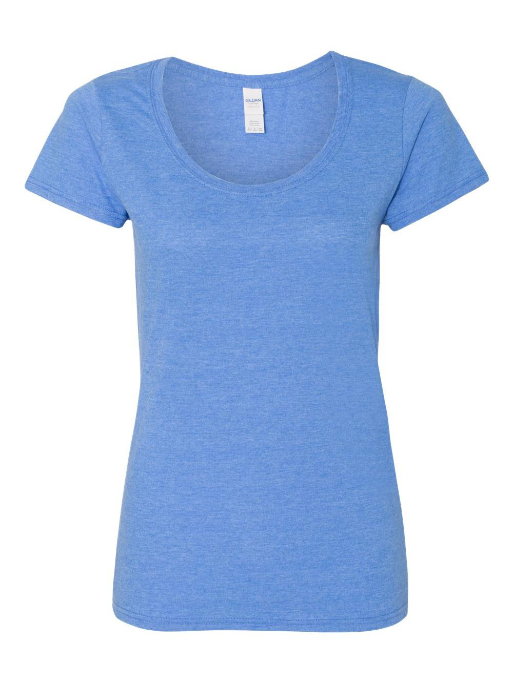 Gildan-Softstyle-Women-039-s-Deep-Scoopneck-T-Shirt-64550L thumbnail 33