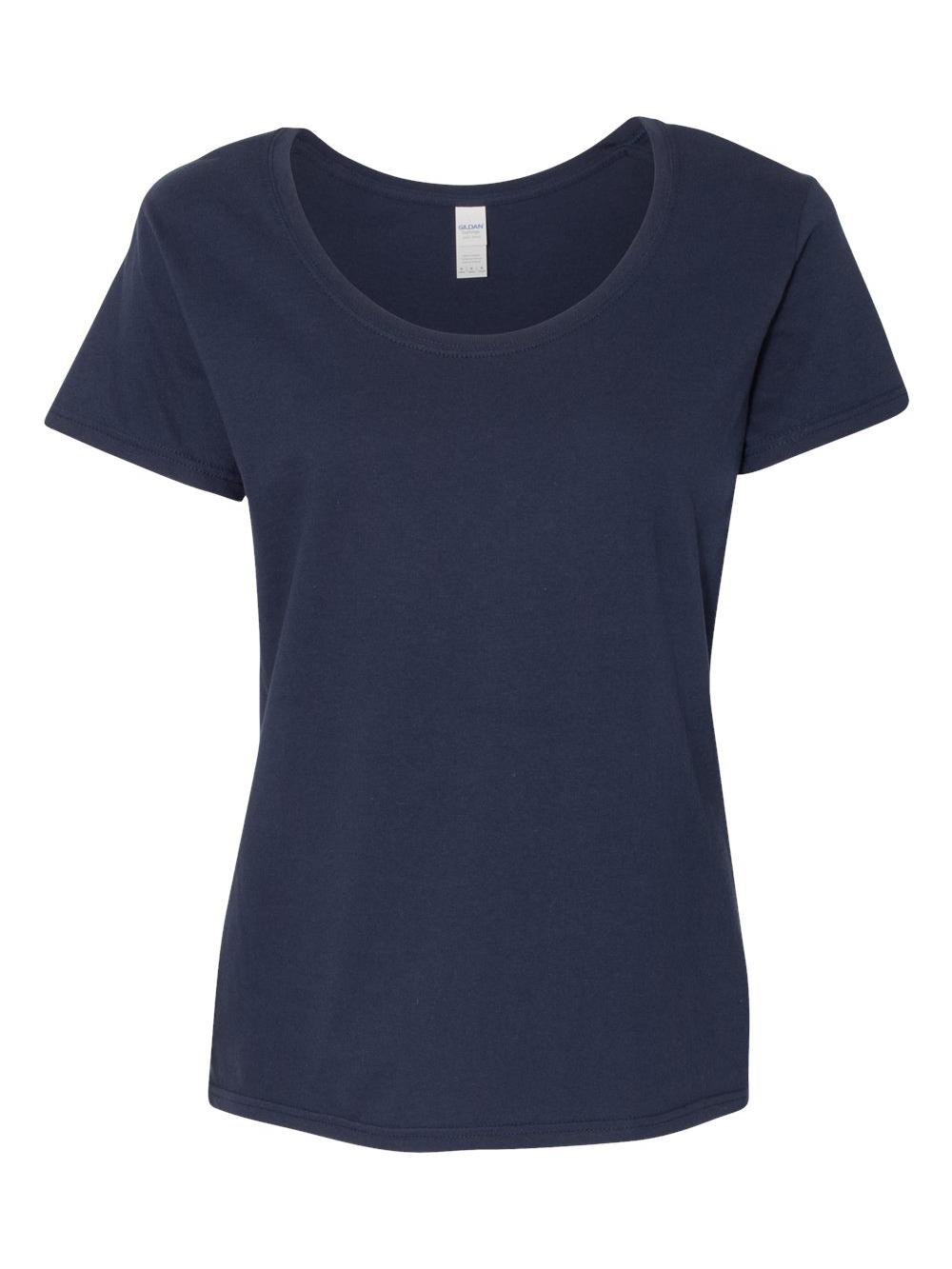 Gildan-Softstyle-Women-039-s-Deep-Scoopneck-T-Shirt-64550L thumbnail 36