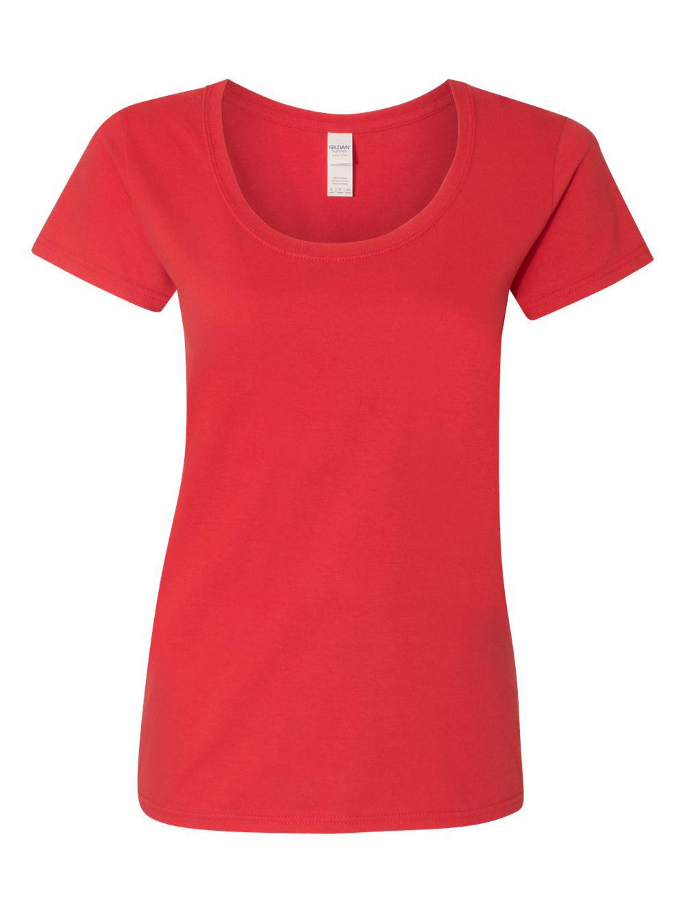 Gildan-Softstyle-Women-039-s-Deep-Scoopneck-T-Shirt-64550L thumbnail 39