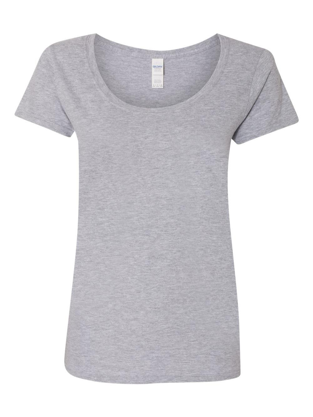 Gildan-Softstyle-Women-039-s-Deep-Scoopneck-T-Shirt-64550L thumbnail 45