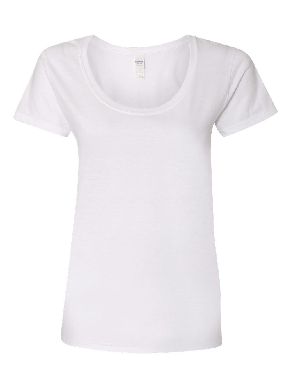 Gildan-Softstyle-Women-039-s-Deep-Scoopneck-T-Shirt-64550L thumbnail 48
