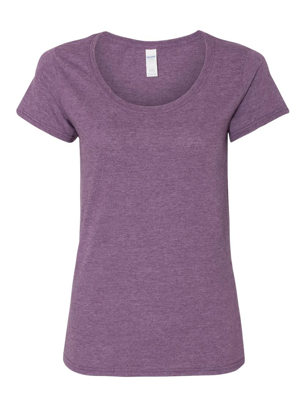 Gildan-Softstyle-Women-039-s-Deep-Scoopneck-T-Shirt-64550L thumbnail 15