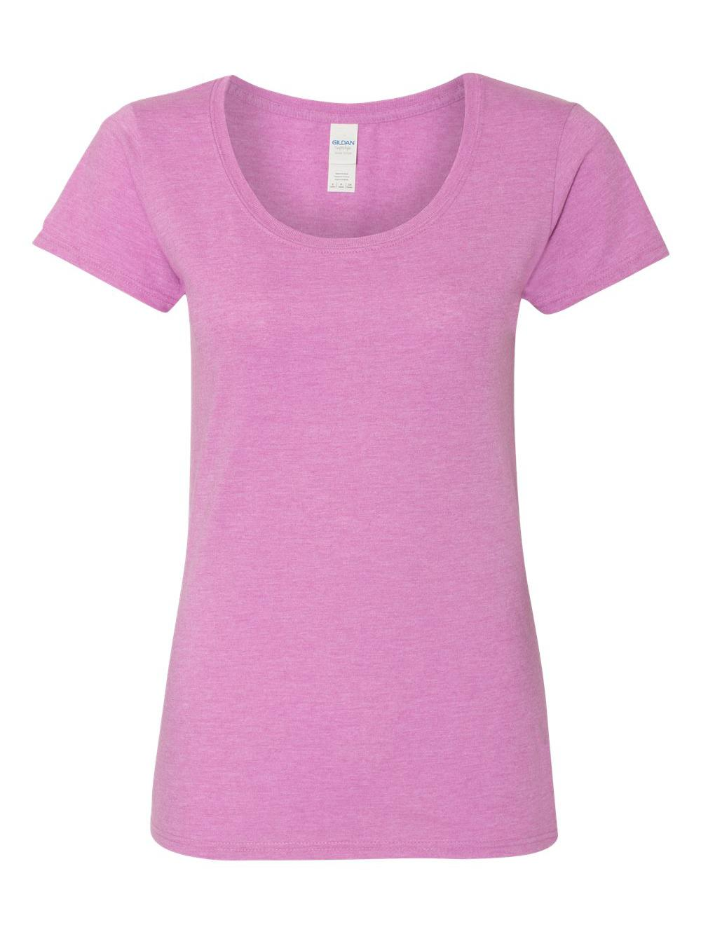 Gildan-Softstyle-Women-039-s-Deep-Scoopneck-T-Shirt-64550L thumbnail 27
