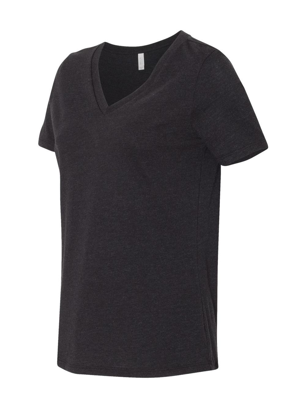 Bella-Canvas-Women-039-s-Relaxed-Short-Sleeve-Jersey-V-Neck-Tee-6405 thumbnail 12