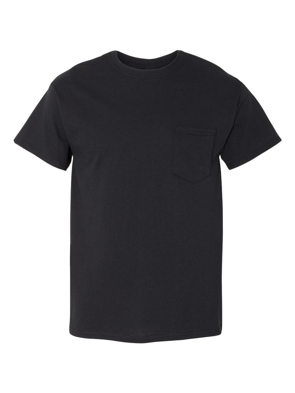 Gildan-Heavy-Cotton-T-Shirt-with-a-Pocket-5300 thumbnail 3