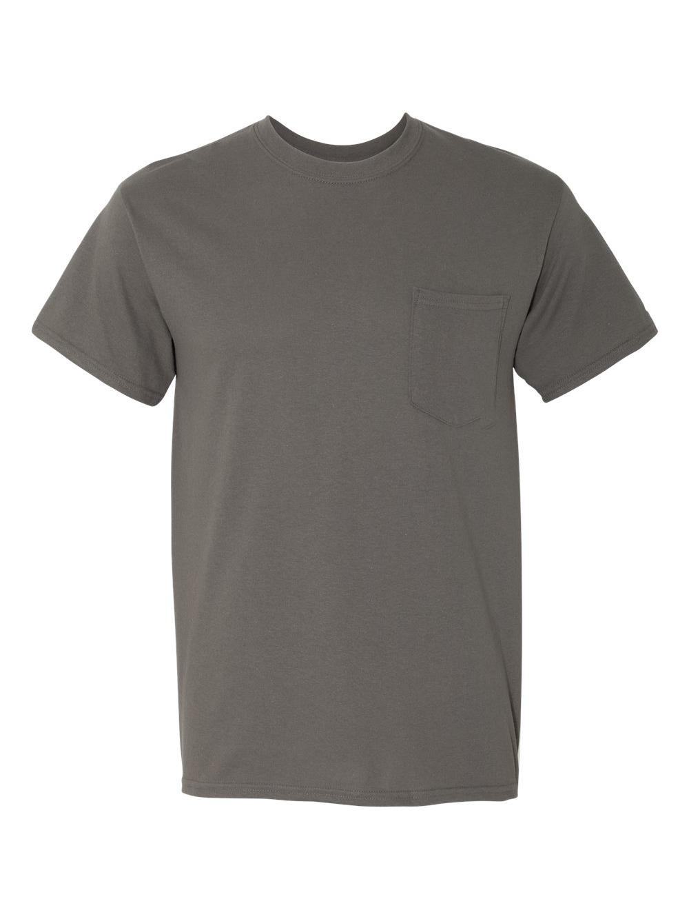 Gildan-Heavy-Cotton-T-Shirt-with-a-Pocket-5300 thumbnail 6