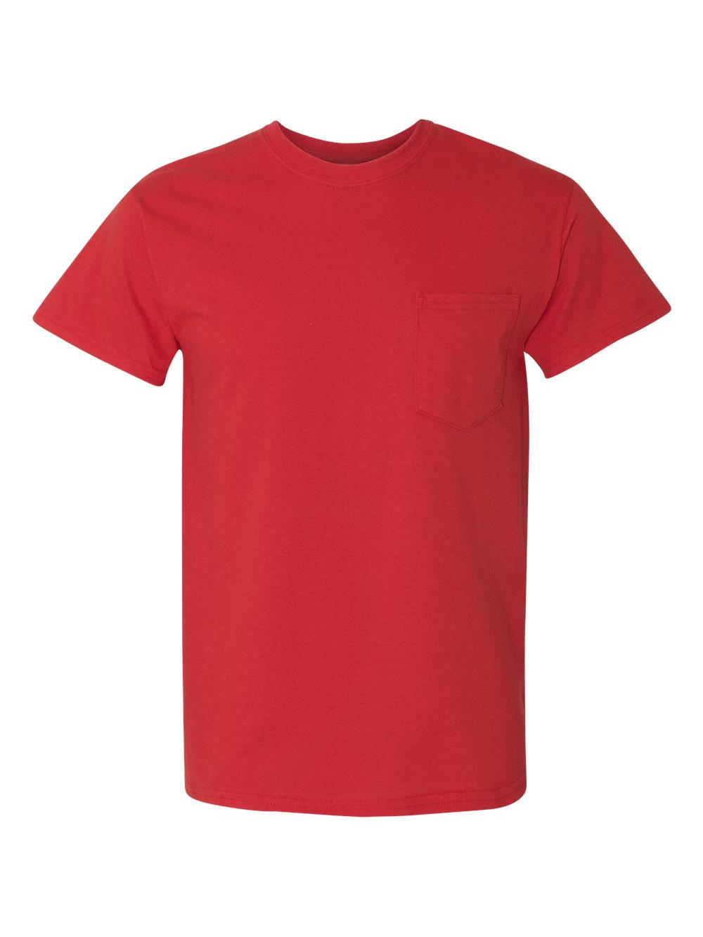 Gildan-Heavy-Cotton-T-Shirt-with-a-Pocket-5300 thumbnail 30