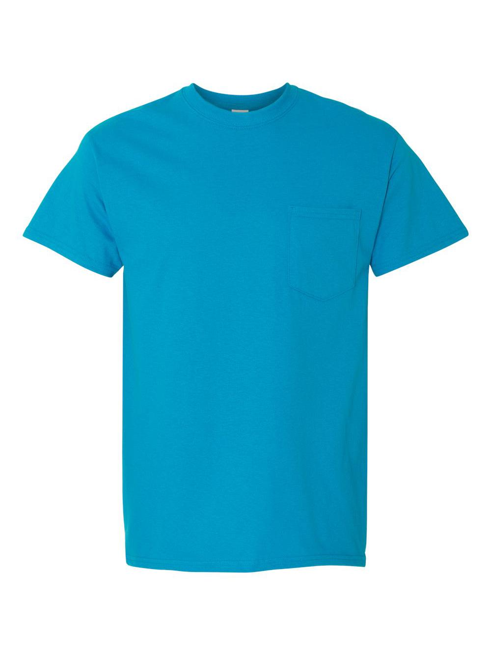 Gildan-Heavy-Cotton-T-Shirt-with-a-Pocket-5300 thumbnail 39