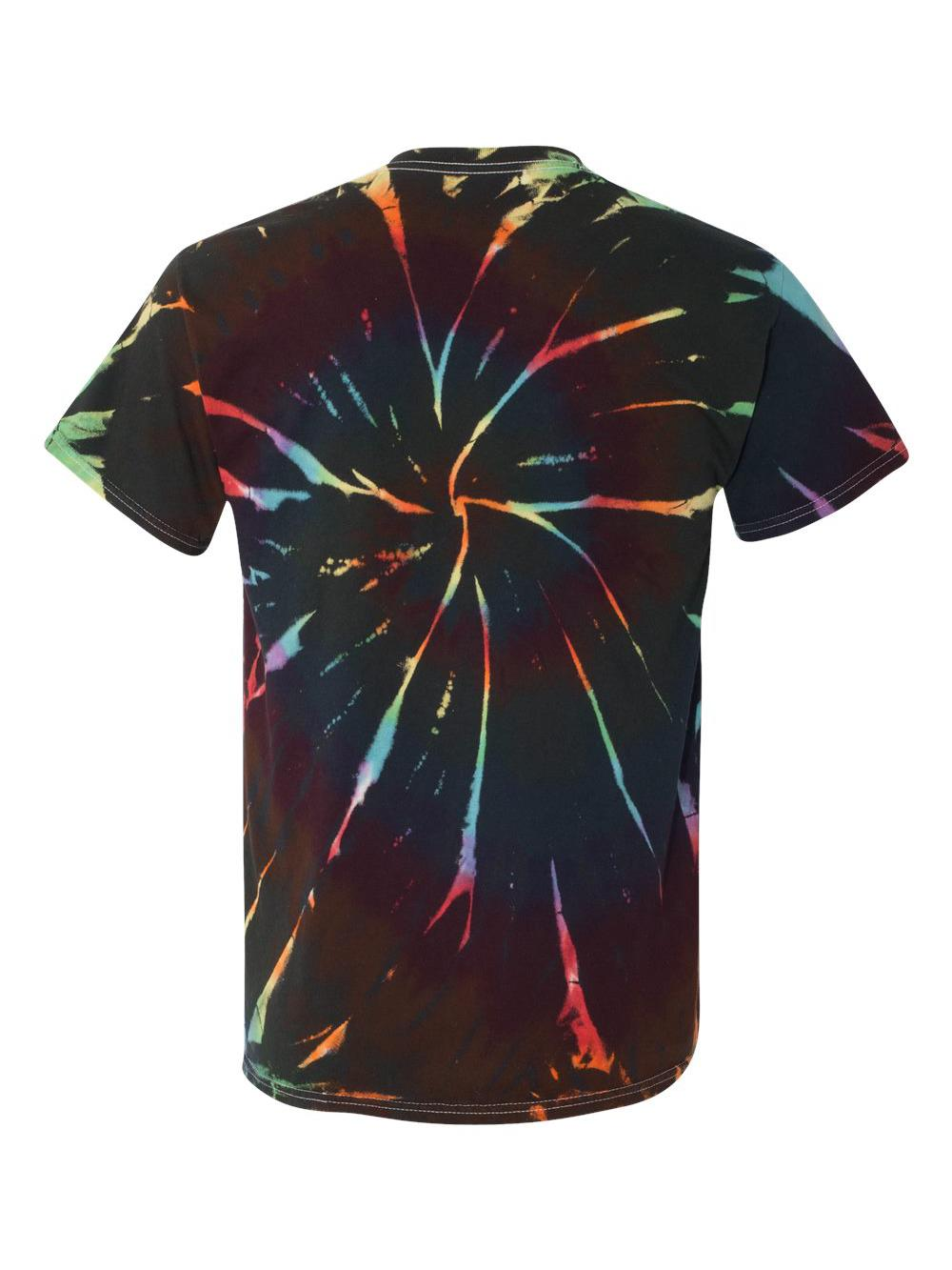 Dyenomite-Multi-Color-Spiral-Short-Sleeve-T-Shirt-200MS thumbnail 8