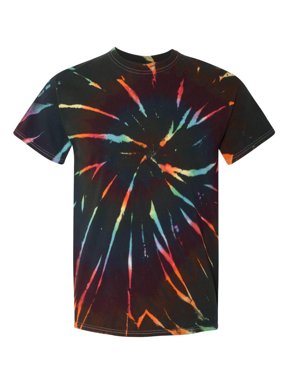 Dyenomite-Multi-Color-Spiral-Short-Sleeve-T-Shirt-200MS thumbnail 7