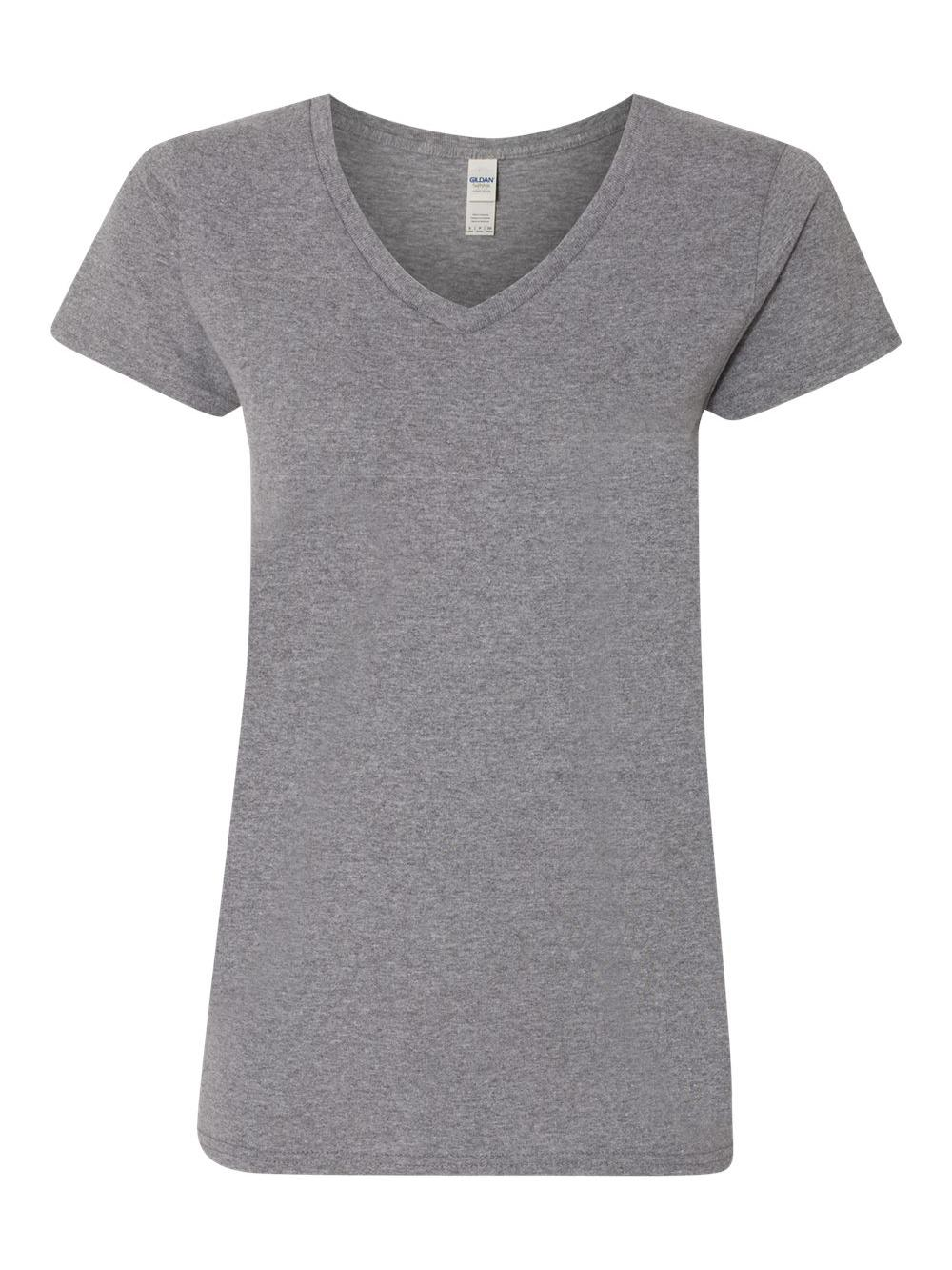 Gildan-Heavy-Cotton-Women-039-s-V-Neck-T-Shirt-5V00L thumbnail 15