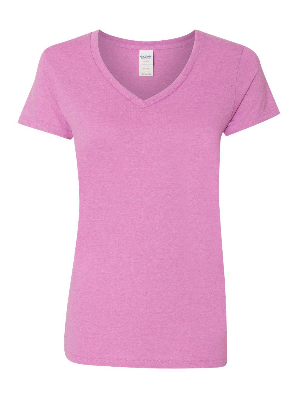 Gildan-Heavy-Cotton-Women-039-s-V-Neck-T-Shirt-5V00L thumbnail 21