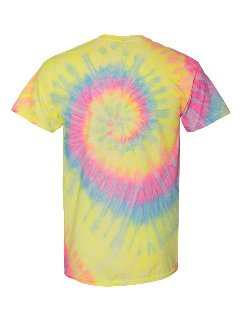 Dyenomite-Multi-Color-Spiral-Short-Sleeve-T-Shirt-200MS thumbnail 14