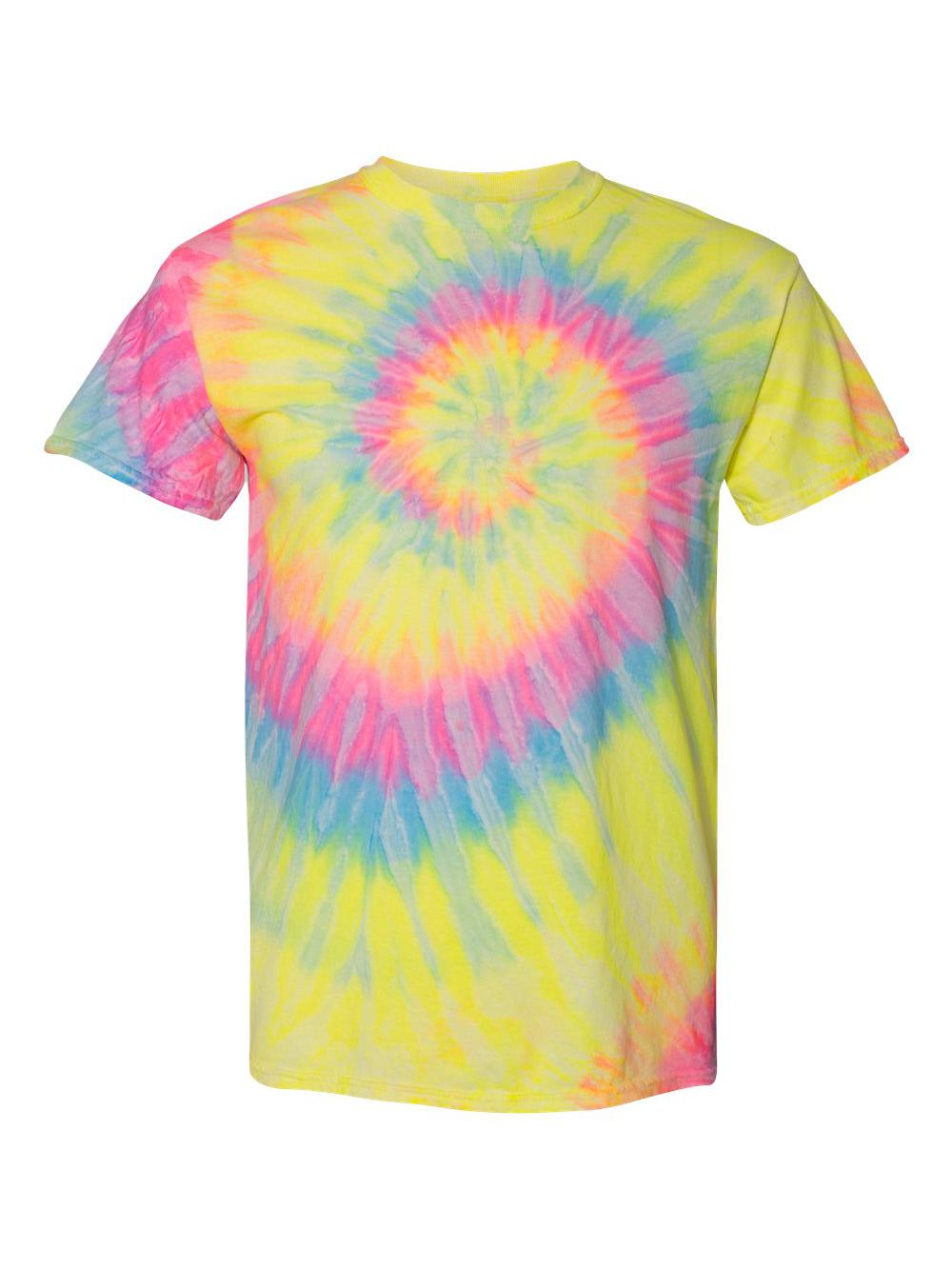 Dyenomite-Multi-Color-Spiral-Short-Sleeve-T-Shirt-200MS thumbnail 13