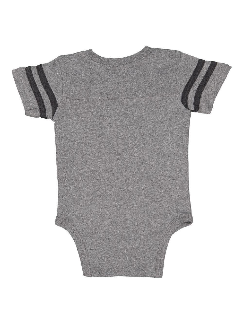 7f00c2e56b0 Rabbit Skins - Infant Football Fine Jersey Bodysuit - 4437 | eBay