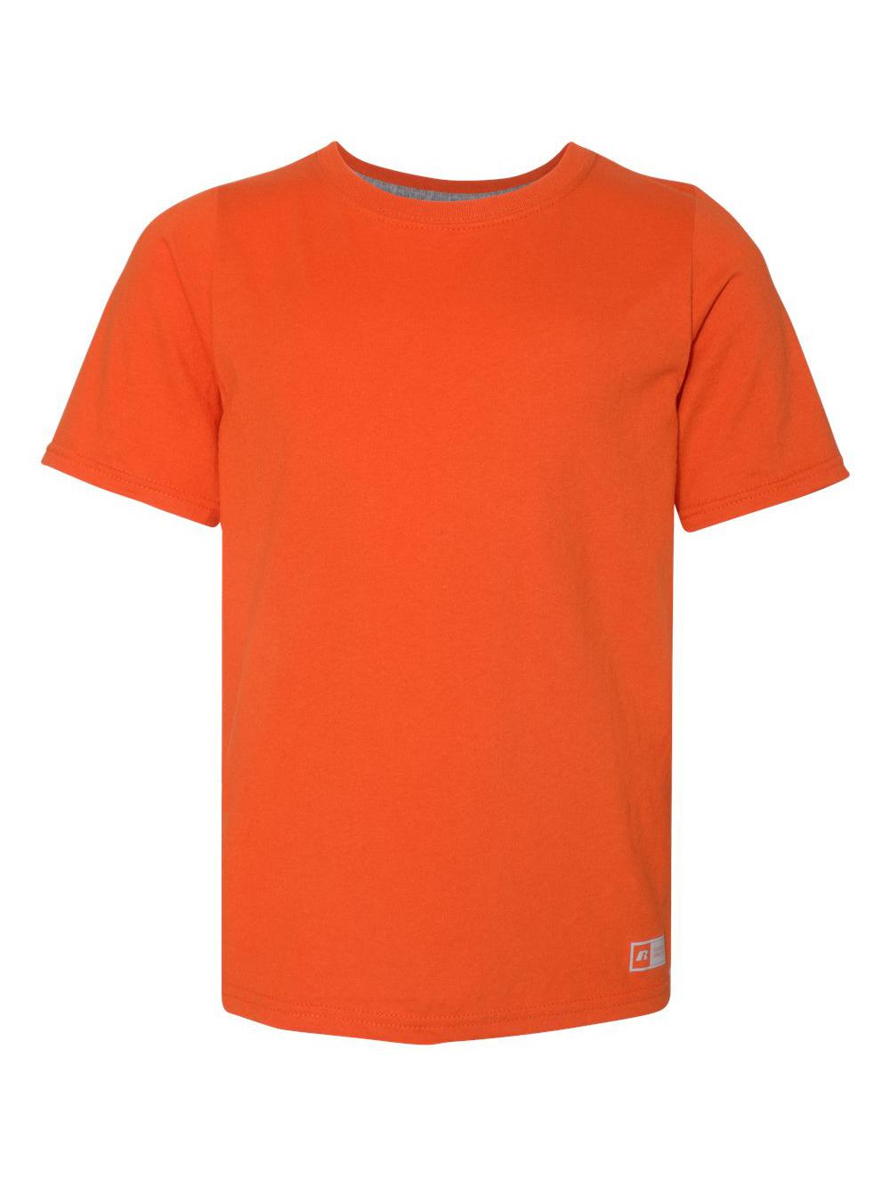 f11769ec Russell Athletic Big Boys' Essential Short Sleeve Tee Burnt Orange XL.  About this product. Picture 1 of 4; Picture 2 of 4; Picture 3 of 4 ...
