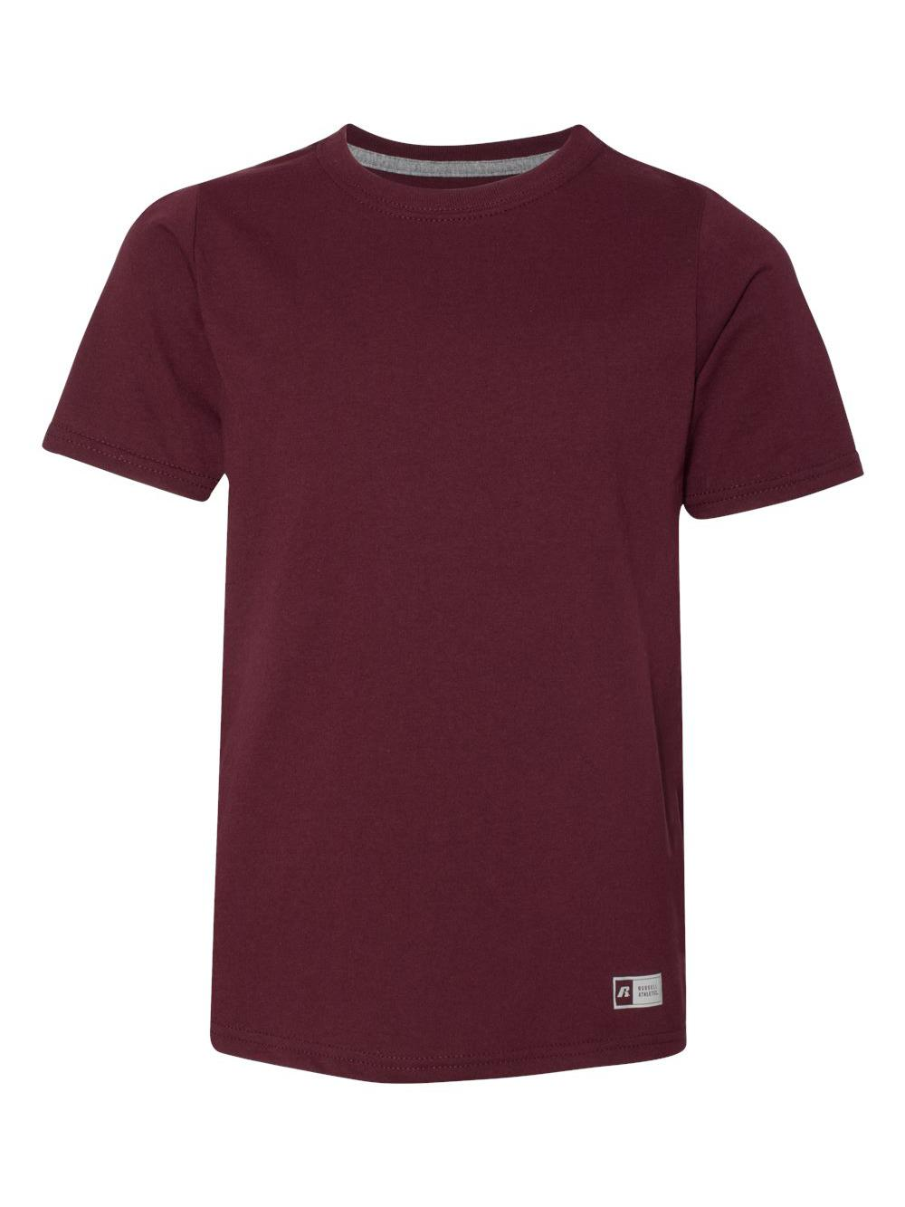 dd600c19 Russell Athletic Big Boys' Essential Short Sleeve Tee Maroon L. About this  product. Picture 1 of 4; Picture 2 of 4 ...