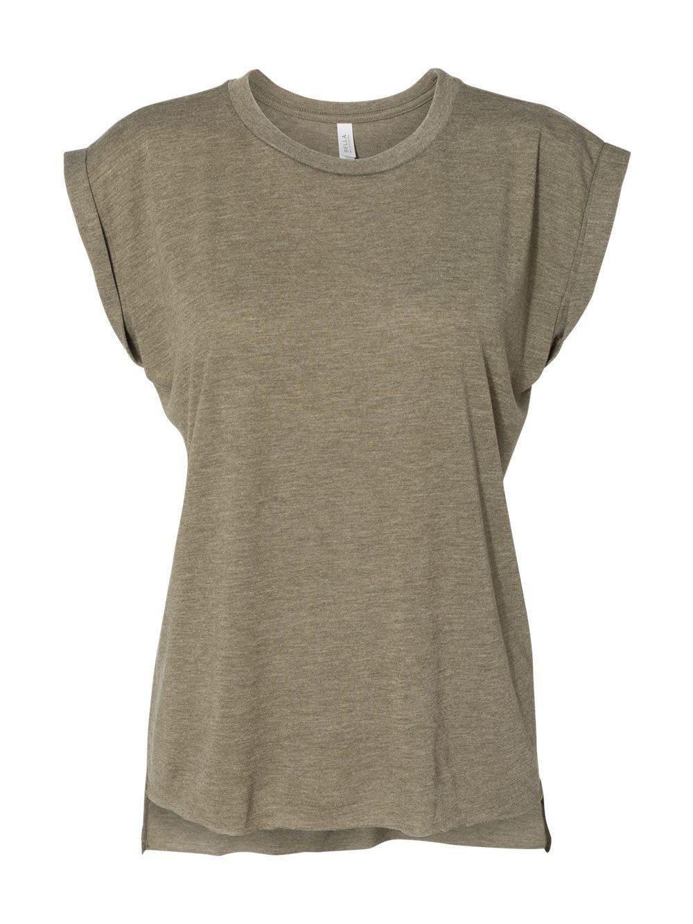 Bella-Canvas-Women-039-s-Flowy-Muscle-Tee-with-Rolled-Cuffs-8804 thumbnail 15