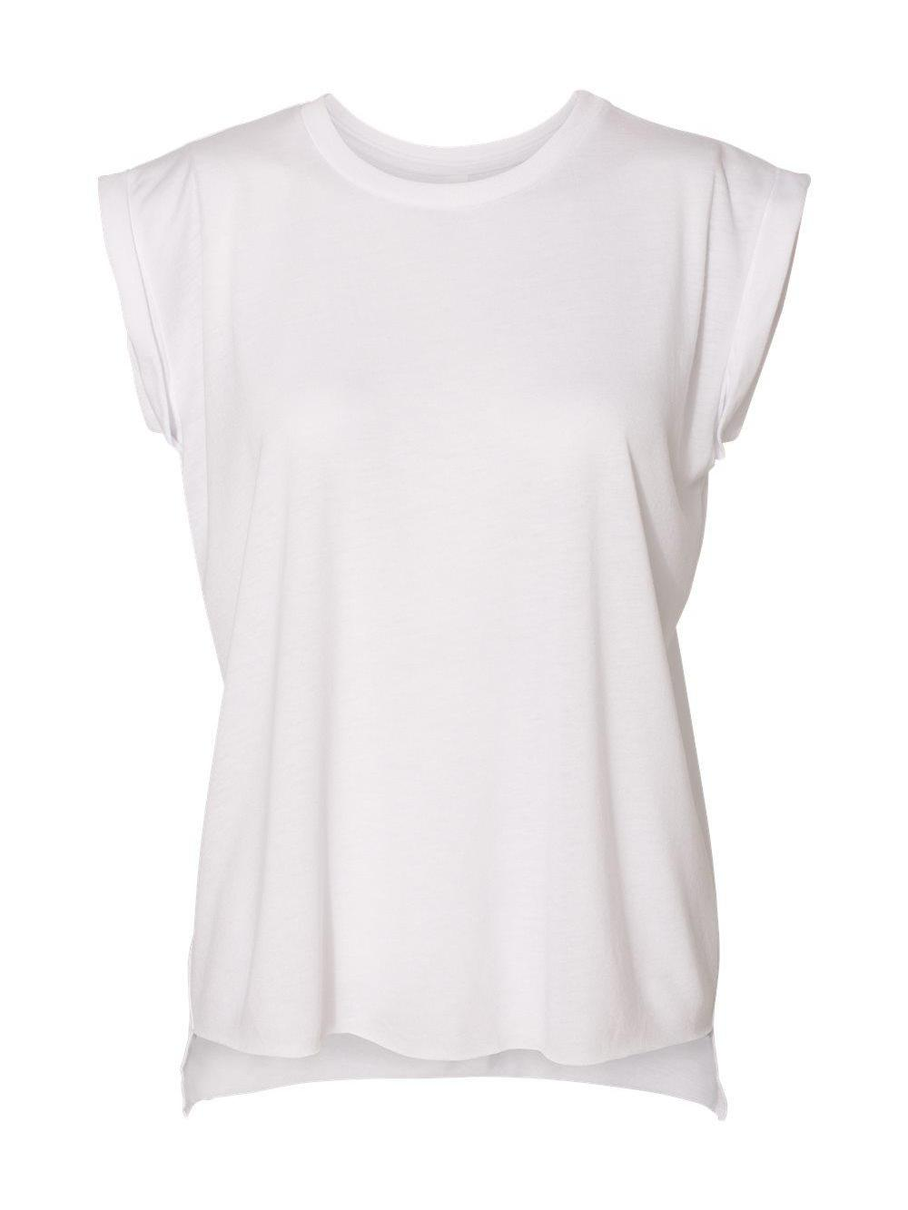 Bella-Canvas-Women-039-s-Flowy-Muscle-Tee-with-Rolled-Cuffs-8804 thumbnail 33