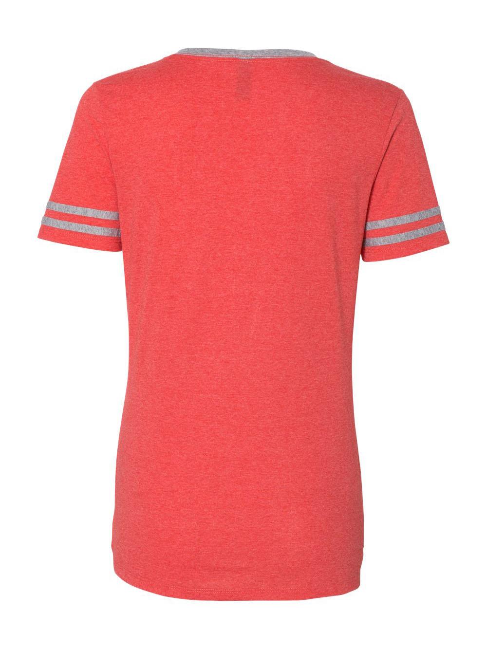 Jerzees-Triblend-Women-039-s-V-Neck-Varsity-T-Shirt-602WVR thumbnail 10