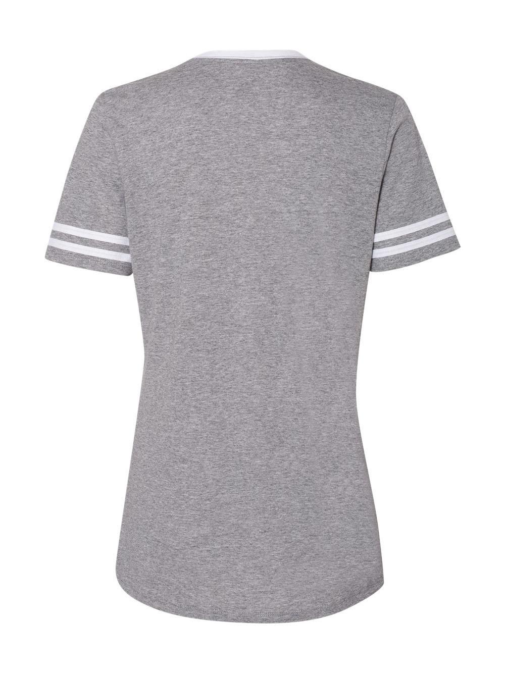 Jerzees-Triblend-Women-039-s-V-Neck-Varsity-T-Shirt-602WVR thumbnail 16
