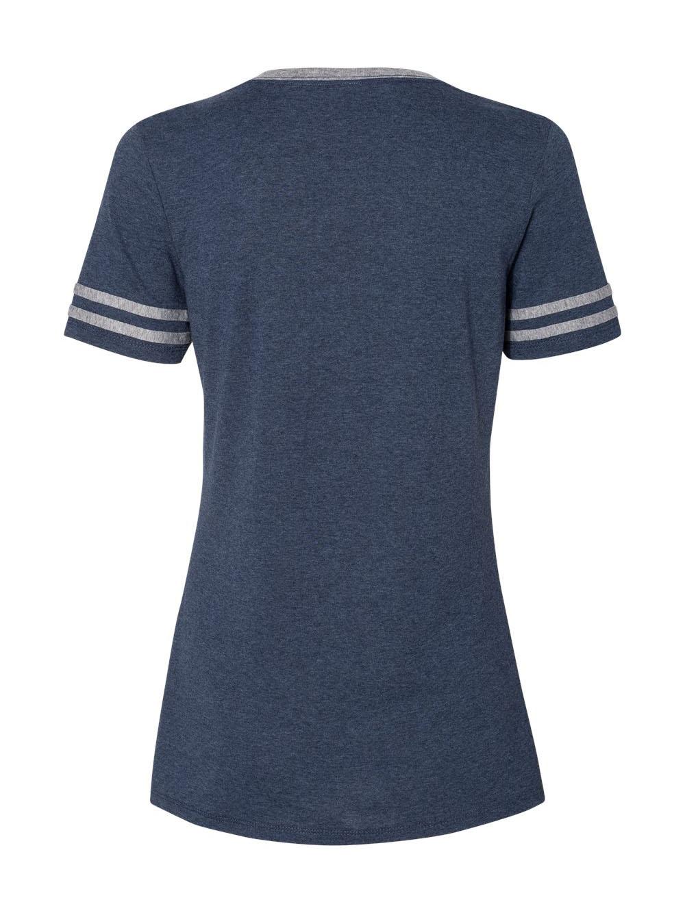 Jerzees-Triblend-Women-039-s-V-Neck-Varsity-T-Shirt-602WVR thumbnail 13