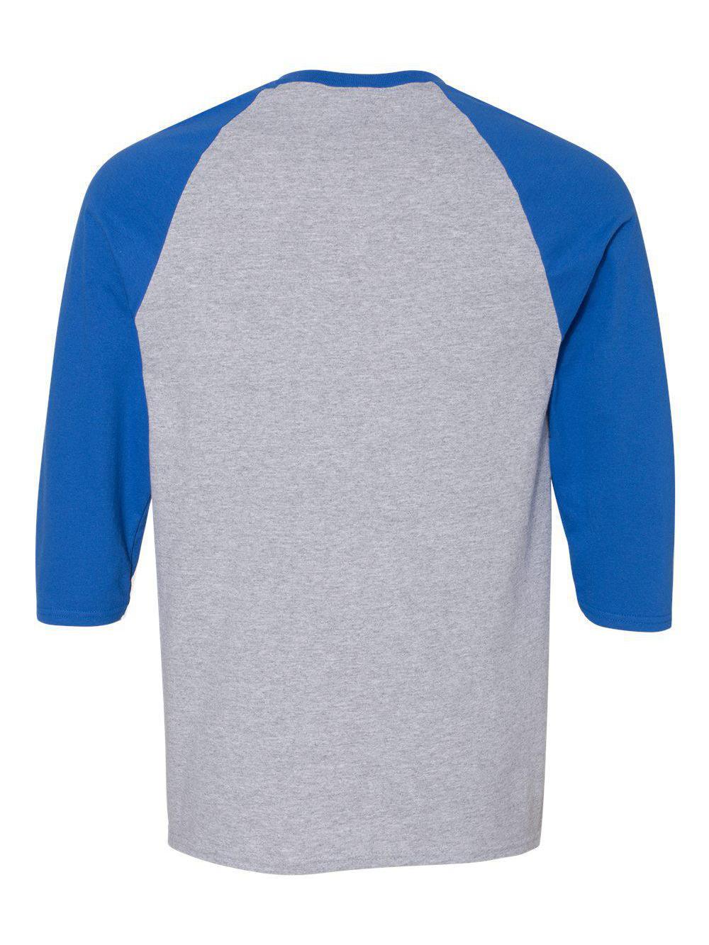 Gildan-Heavy-Cotton-Three-Quarter-Raglan-Sleeve-Baseball-T-Shirt-5700 thumbnail 16