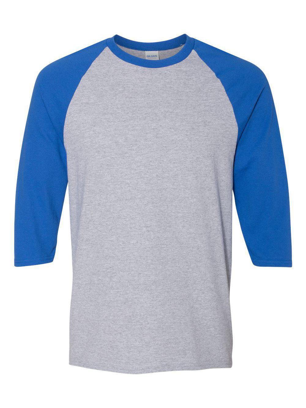 Gildan-Heavy-Cotton-Three-Quarter-Raglan-Sleeve-Baseball-T-Shirt-5700 thumbnail 15