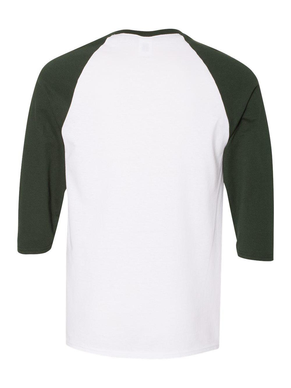 Gildan-Heavy-Cotton-Three-Quarter-Raglan-Sleeve-Baseball-T-Shirt-5700 thumbnail 25
