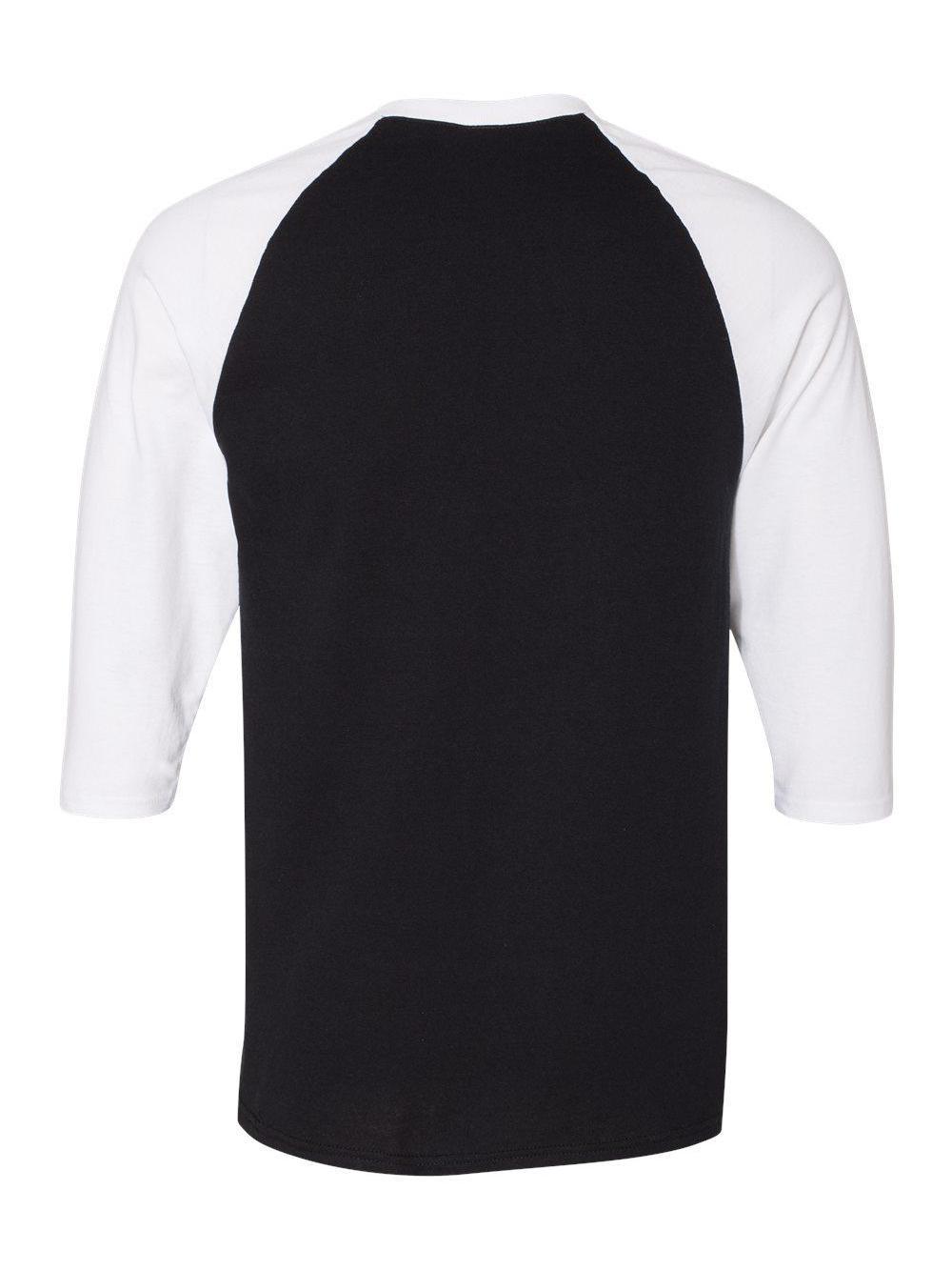 Gildan-Heavy-Cotton-Three-Quarter-Raglan-Sleeve-Baseball-T-Shirt-5700 thumbnail 4