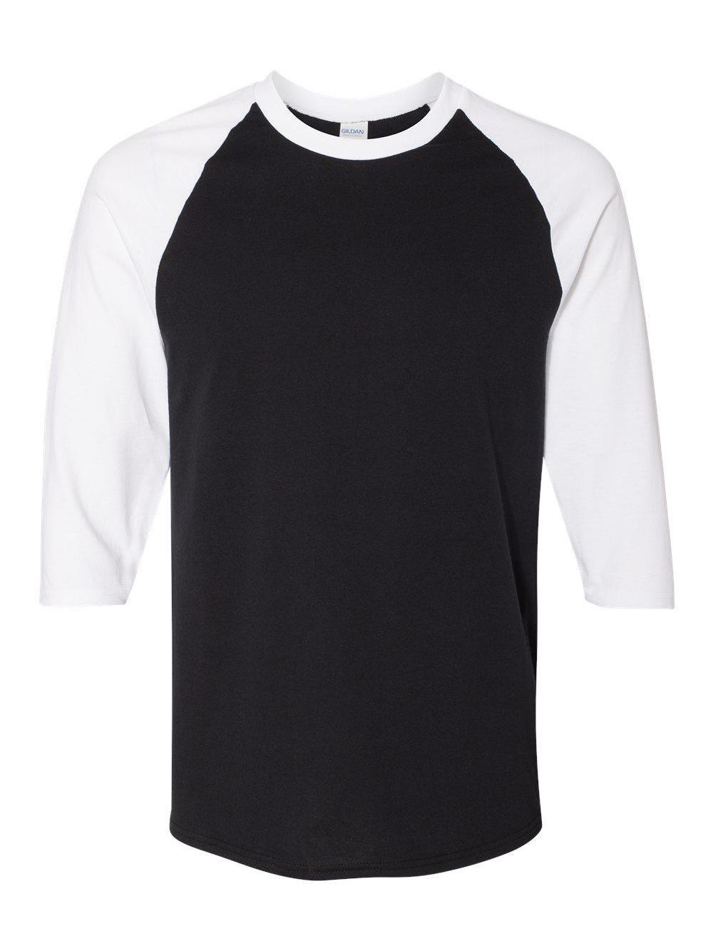 Gildan-Heavy-Cotton-Three-Quarter-Raglan-Sleeve-Baseball-T-Shirt-5700 thumbnail 3