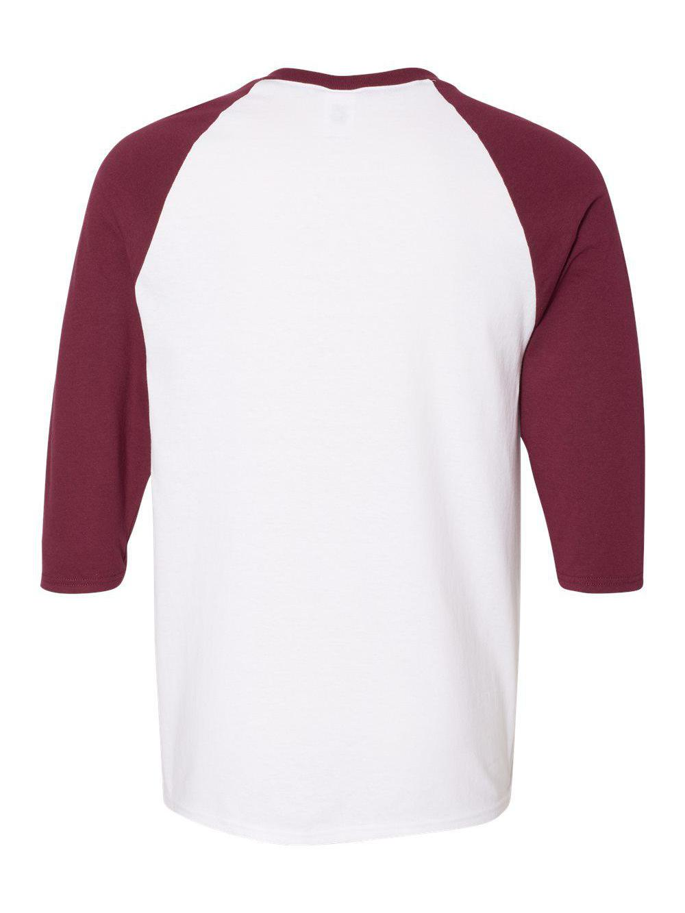 Gildan-Heavy-Cotton-Three-Quarter-Raglan-Sleeve-Baseball-T-Shirt-5700 thumbnail 31