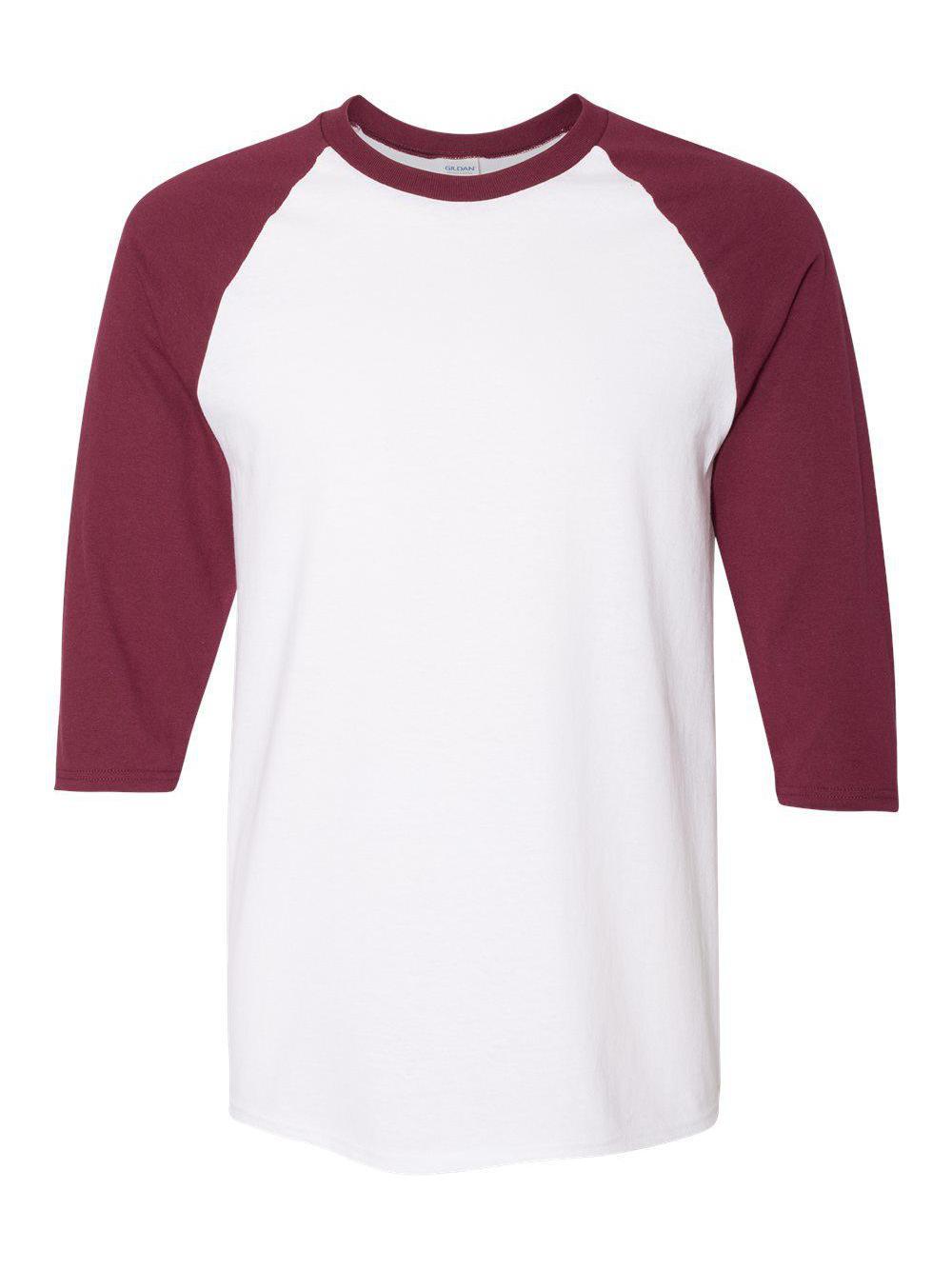 Gildan-Heavy-Cotton-Three-Quarter-Raglan-Sleeve-Baseball-T-Shirt-5700 thumbnail 30