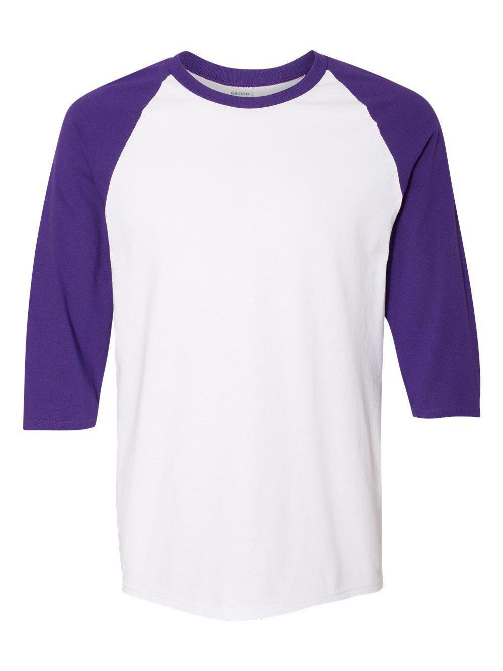 Gildan-Heavy-Cotton-Three-Quarter-Raglan-Sleeve-Baseball-T-Shirt-5700 thumbnail 36