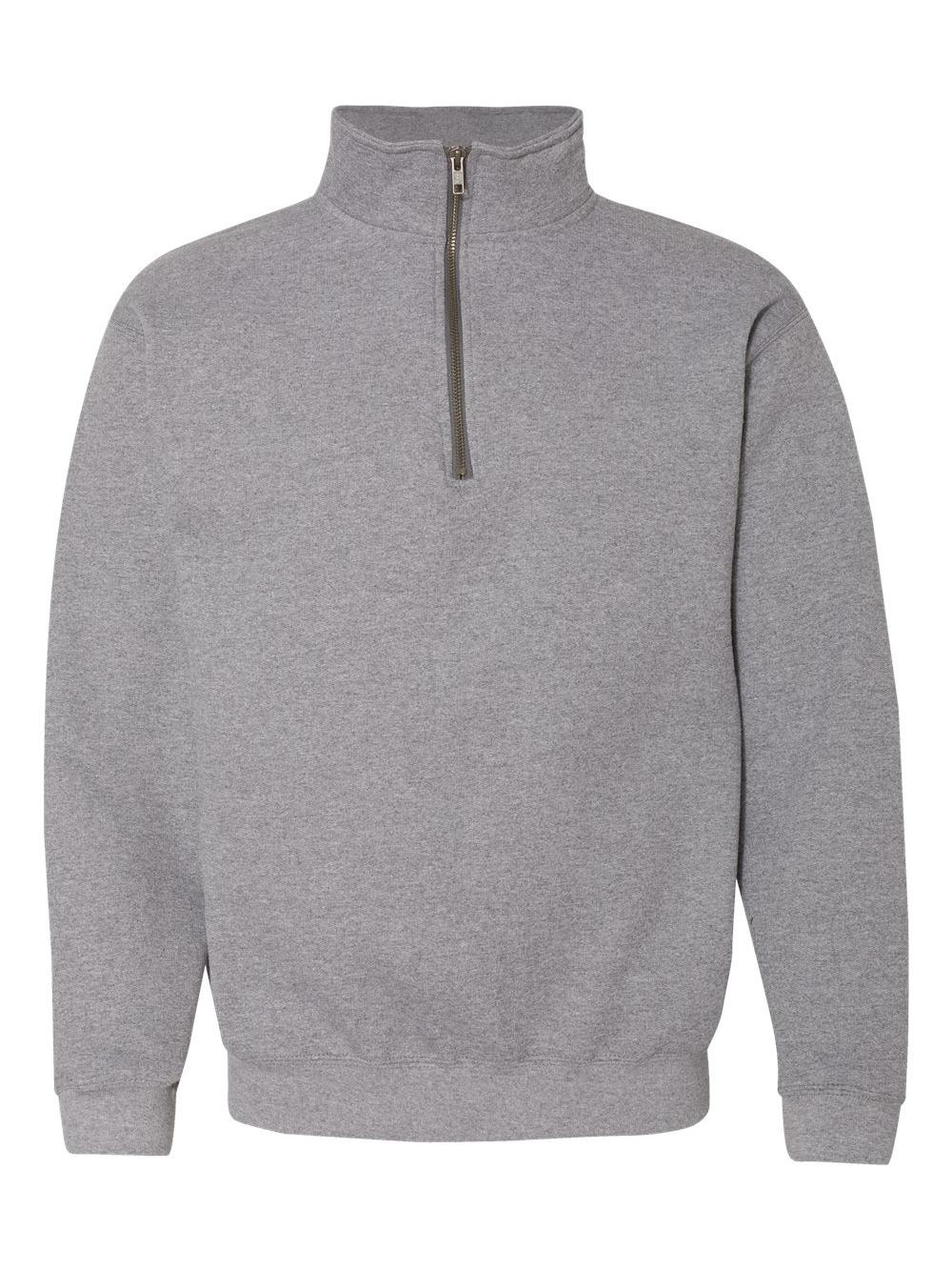 Gildan-Heavy-Blend-Quarter-Zip-Cadet-Collar-Sweatshirt-18800 thumbnail 9