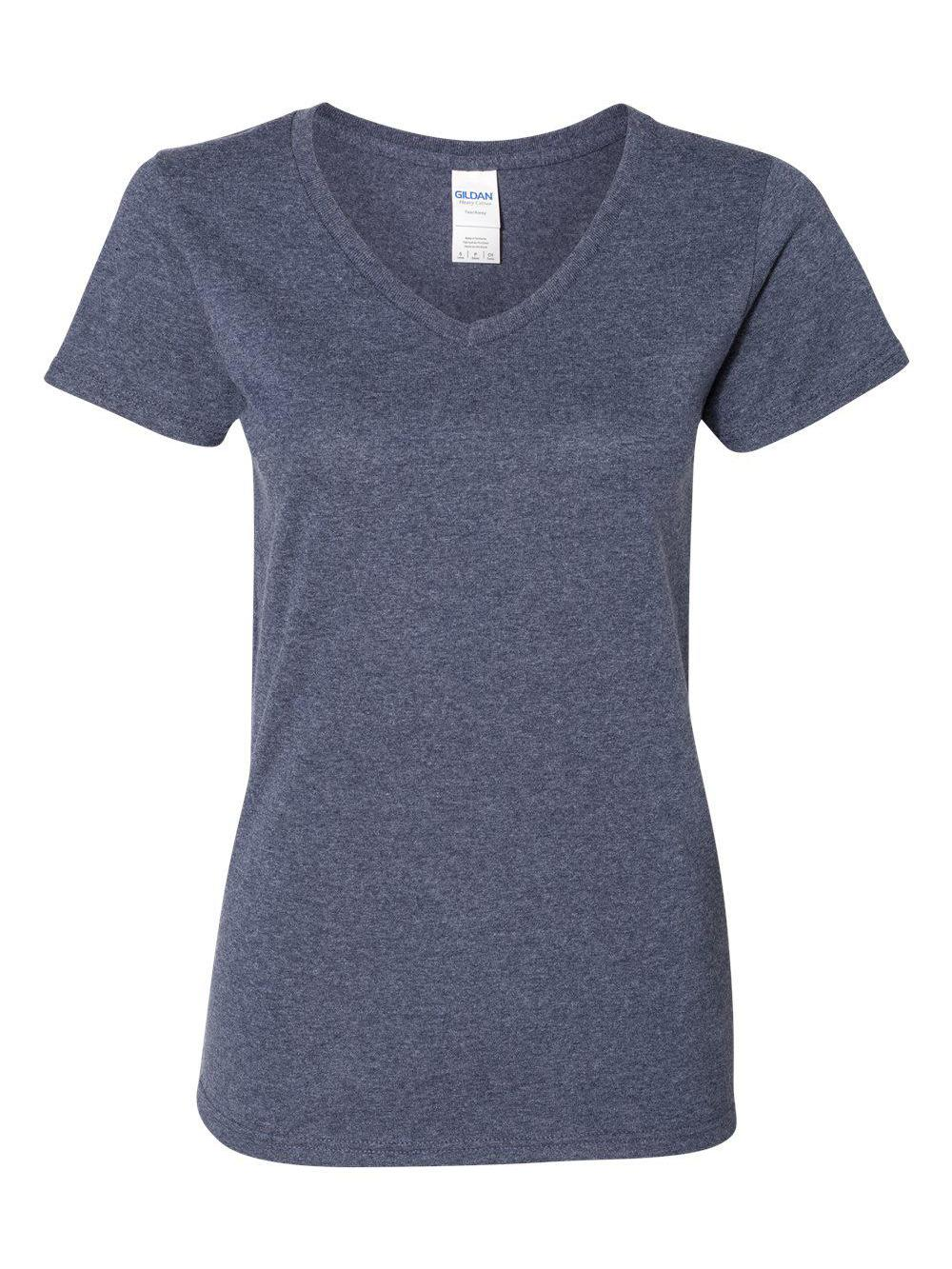 Gildan-Heavy-Cotton-Women-039-s-V-Neck-T-Shirt-5V00L thumbnail 18