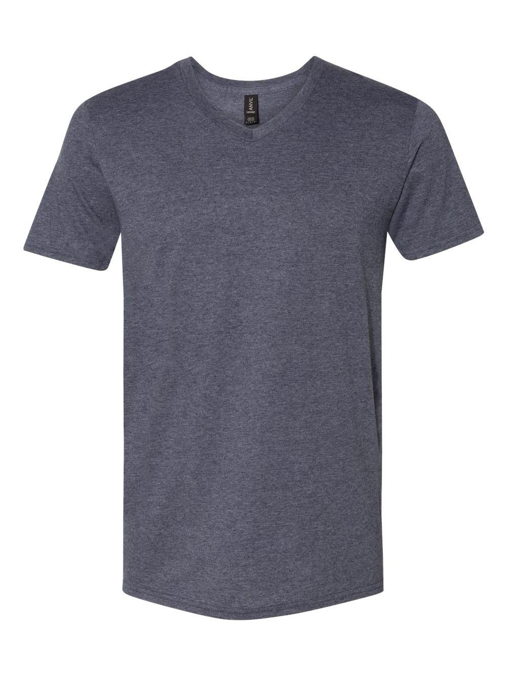 Anvil-Lightweight-Ringspun-V-Neck-T-Shirt-982 thumbnail 15