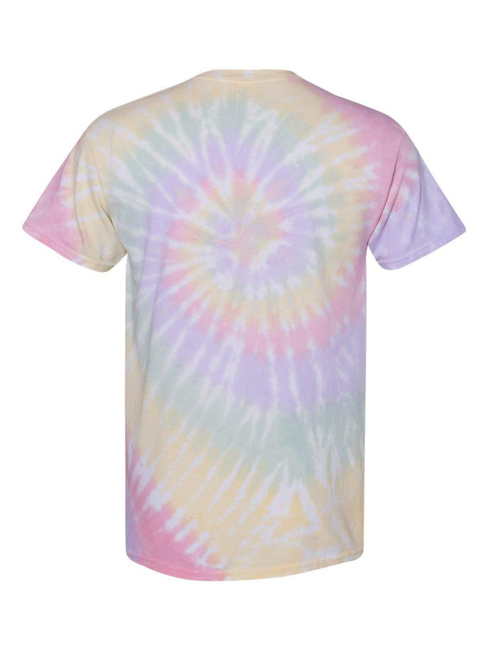 Dyenomite-Multi-Color-Spiral-Short-Sleeve-T-Shirt-200MS thumbnail 24