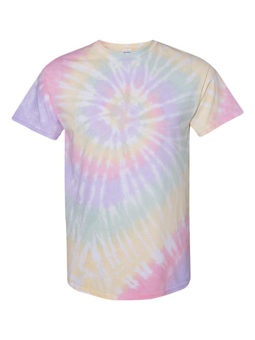 Dyenomite-Multi-Color-Spiral-Short-Sleeve-T-Shirt-200MS thumbnail 23