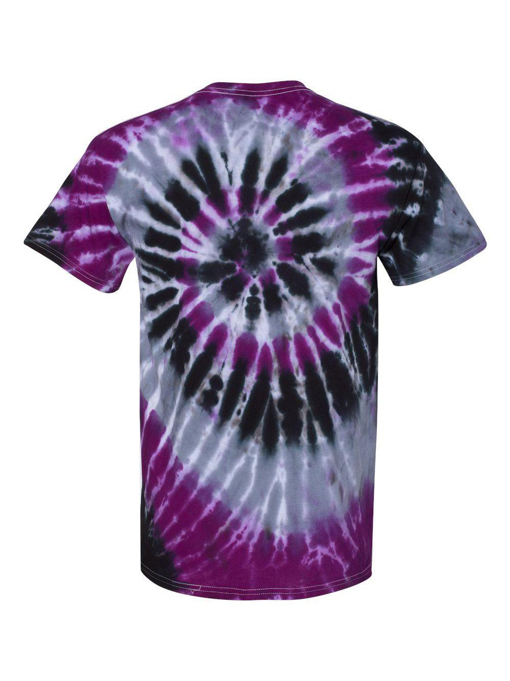 Dyenomite-Multi-Color-Spiral-Short-Sleeve-T-Shirt-200MS thumbnail 36