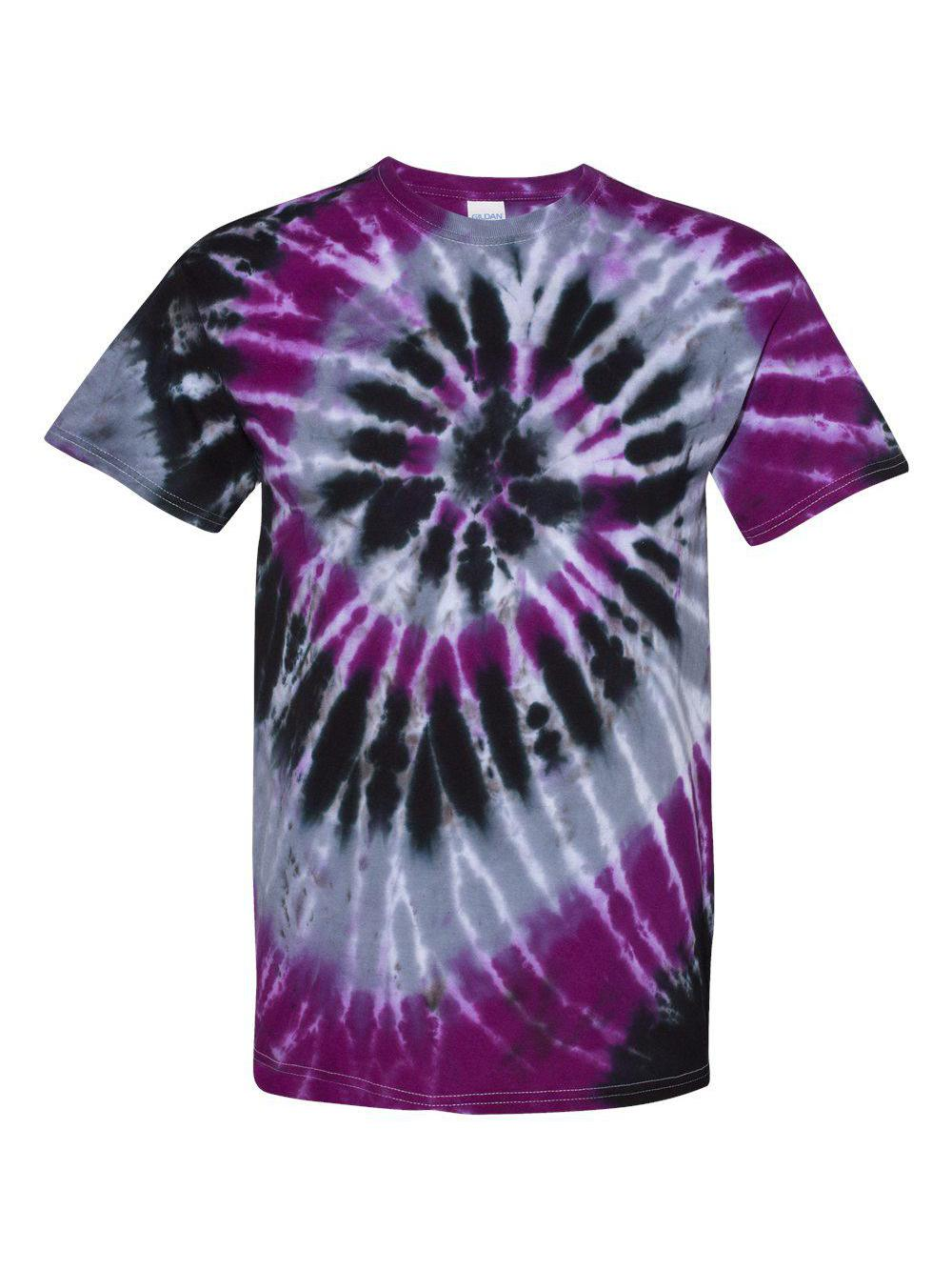 Dyenomite-Multi-Color-Spiral-Short-Sleeve-T-Shirt-200MS thumbnail 35