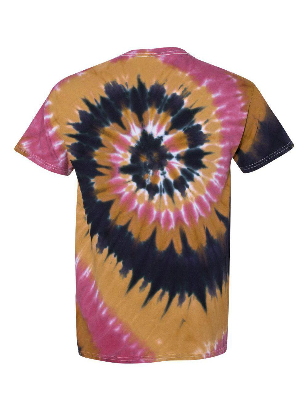 Dyenomite-Multi-Color-Spiral-Short-Sleeve-T-Shirt-200MS thumbnail 42