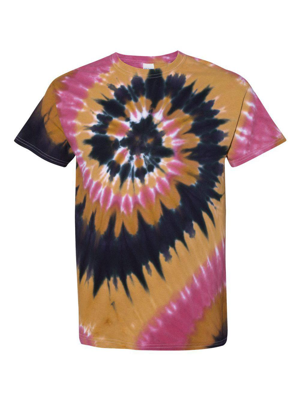 Dyenomite-Multi-Color-Spiral-Short-Sleeve-T-Shirt-200MS thumbnail 41