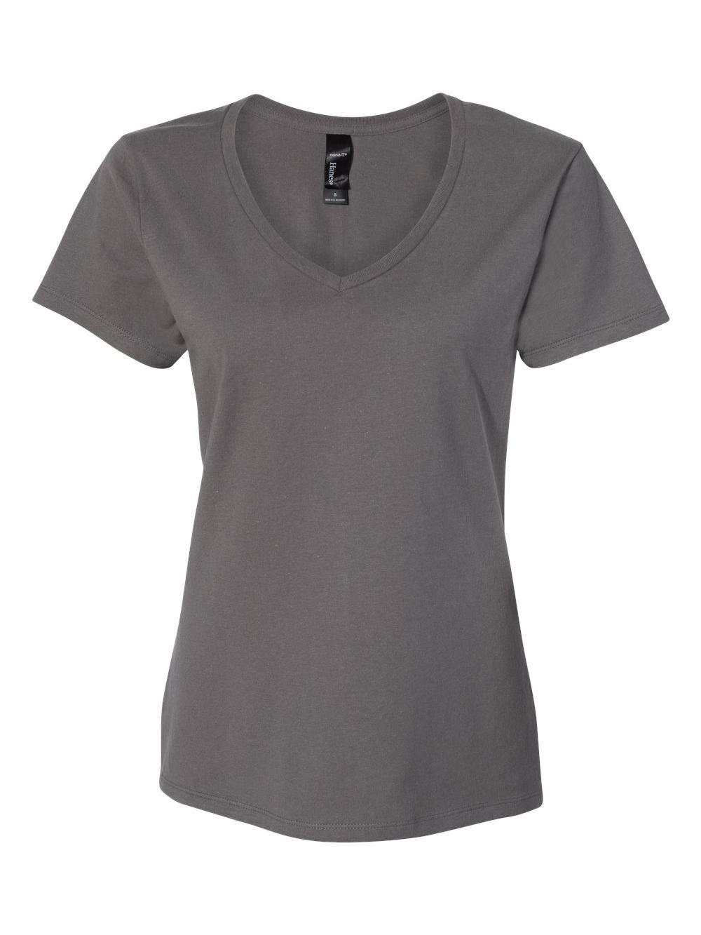 Hanes-Nano-T-Women-039-s-V-Neck-T-Shirt-S04V thumbnail 18